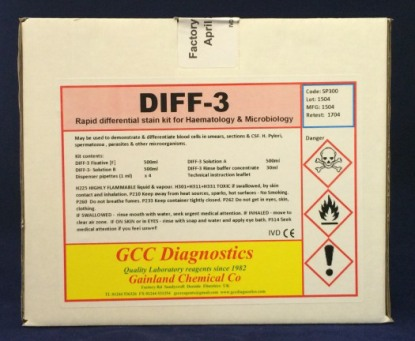 DIFF-3 kit (Rapid Differential Blood stain kit) - SP300